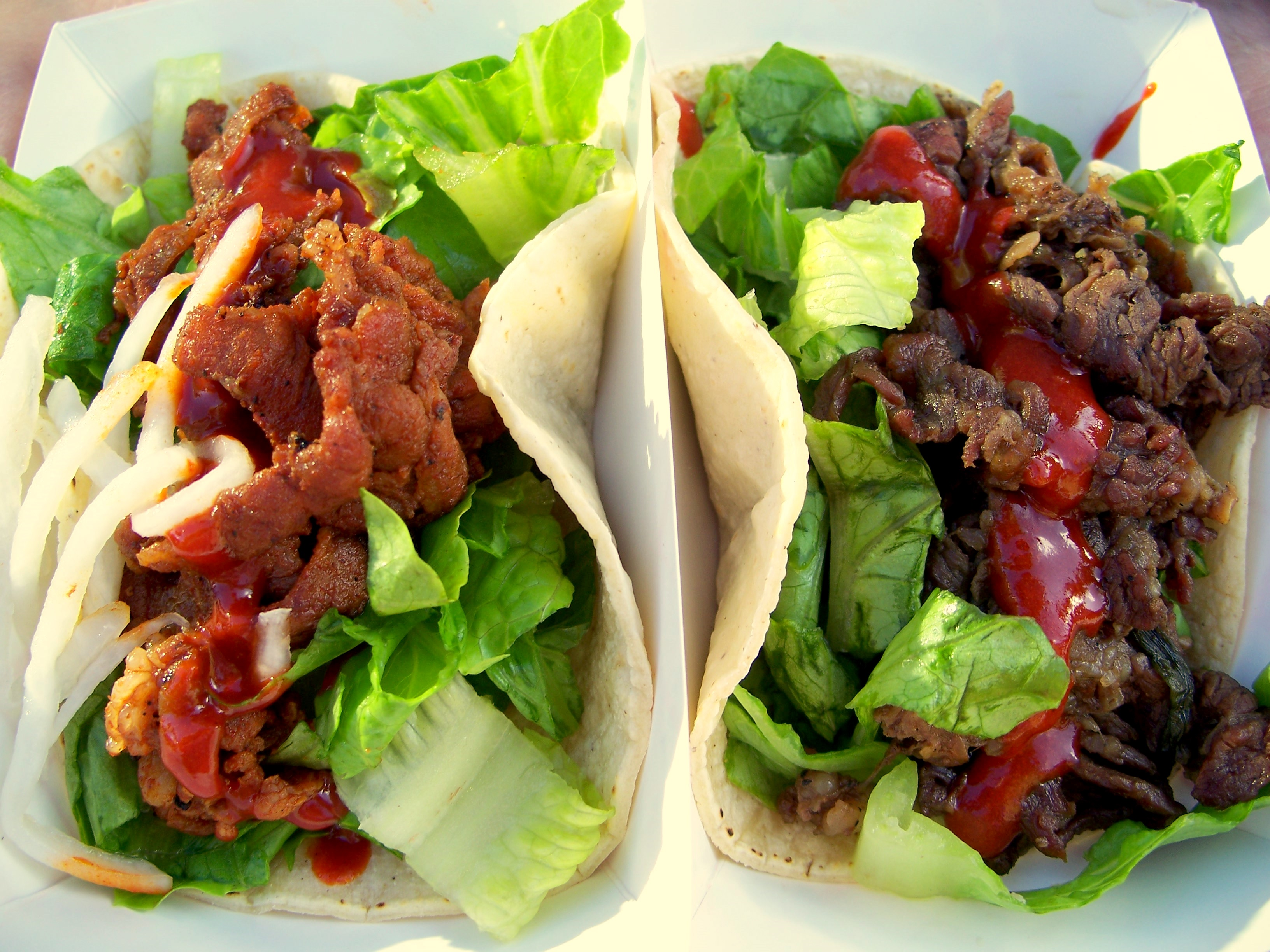 korean spicy bbq chicken and korean spicy pineapple korean bbq tacos ...
