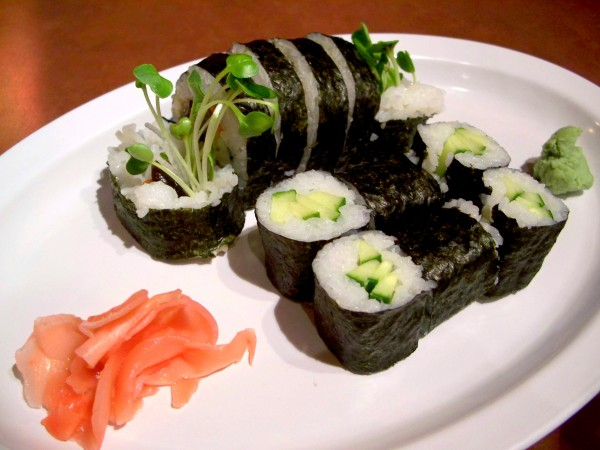 And I never felt happier eating veggie rolls. V8 (mushroom, cucumber ...