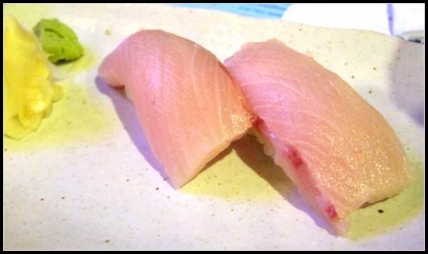 Hamachi nigiri - fresh and chewy as I like it