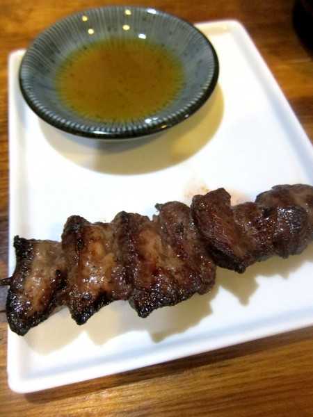 Gyutan - grilled beef tongue Another must-order of mine. A little bit too thick (and therefore, too chewy) for me, I still prefer Musashi's gyutan.