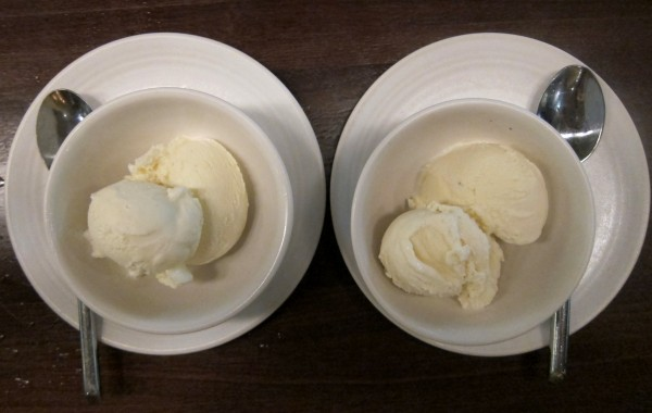 Ice cream ($4 each) - toasted rice (left) and chinese walnut (right) - both remind me of grocery rice milk and walnut milk, which are sweeter than I would have liked.