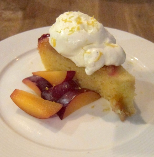 Plum upside-down corn cake with creme fraiche ($8) - I'm ashamed to say that I don't remember anything about this corn cake...
