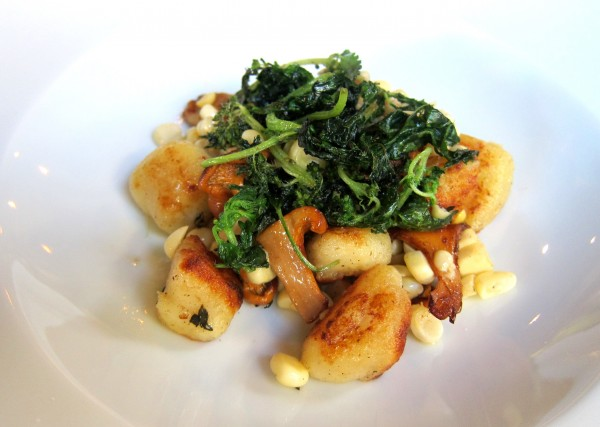 Pan-fried gnocchi, corn, chanterelle mushroom and wild nettles ($12) - I think I'll start pan-frying all of my gnocchi from now on.