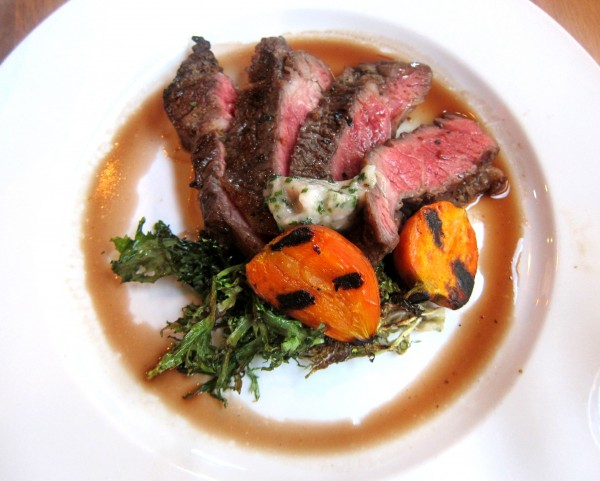 Grilled ribeye, grilled frisee, carrots and bone marrow ($24) - The picture speaks for itself.