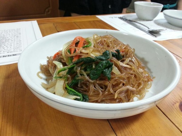 And then the food began and never stopped coming. Jap chae - delicious!