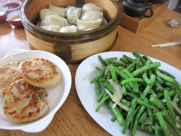 sdk dumplings and green beans