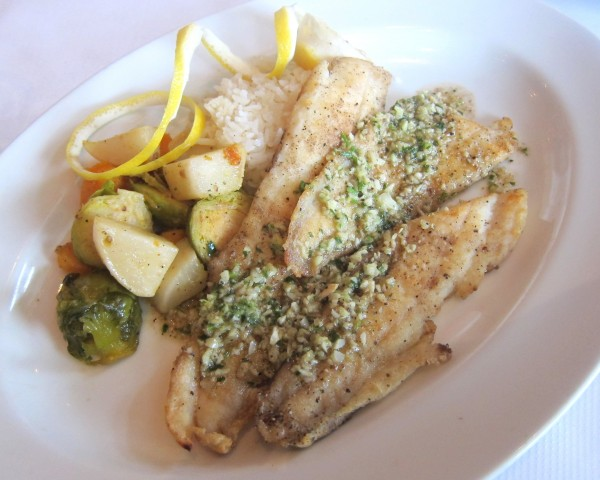 Lemon sole meuniere - too much lemongrass, lemon and salt, but so much more edible than the lamb.